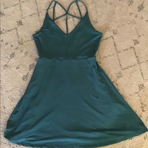 Beautiful turquoise dress with back detail